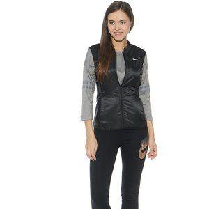 Nike Running Black Zipper Front Gilet Vest